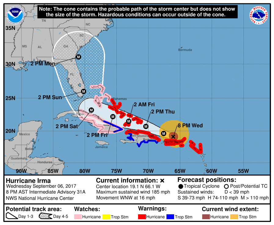 Public facility closures ahead of Hurricane Irma