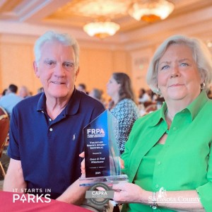 Parks, Recreation and Natural Resources Volunteers Win Statewide Award