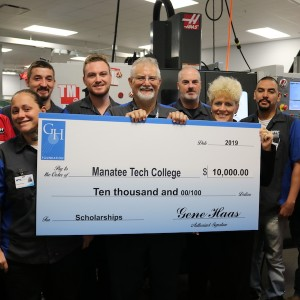 Haas Awards Manatee Tech College $10K for Machining Students