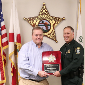 Sheriff Awards Inaugural Community Impact Award to Mike Quillen of Gecko's Hospitality Group