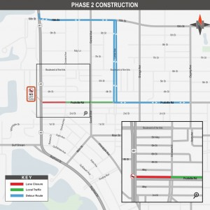 Fruitville Road Closure Begins This Week for Phase 2 of Roundabout Construction