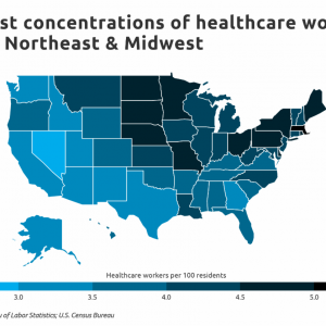 Florida Has a Below Average Number of Healthcare Workers