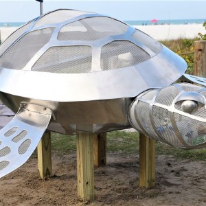 Environmental Turtle Sculpture Installed at Siesta Beach