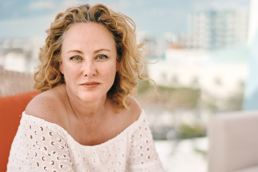 Actress Virginia Madsen in the filmmaker's lounge atop the Art  Ovation  Hotel.