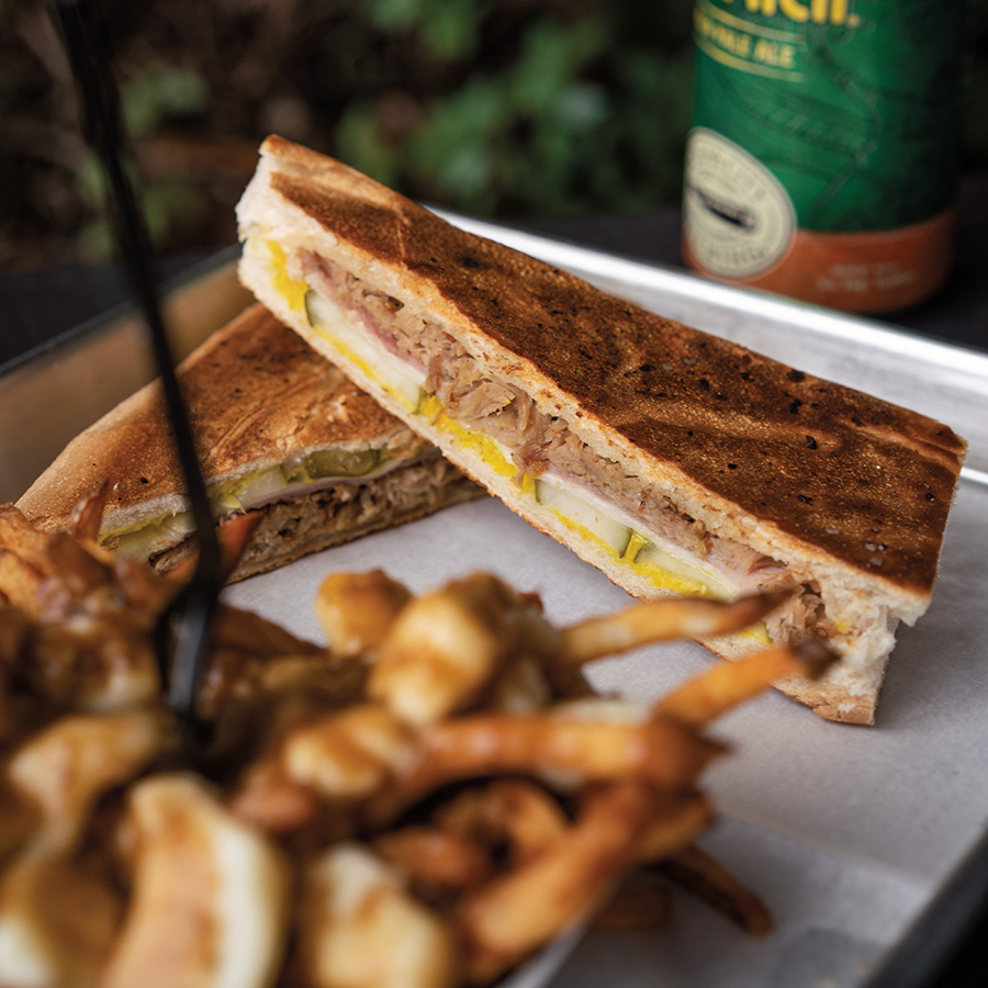 Poutine and Cuban sandwich. Photography by Wyatt Kostygan
