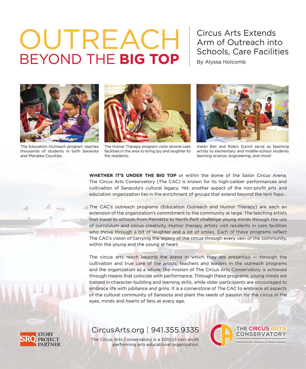 Outreach Beyond the Big Top
