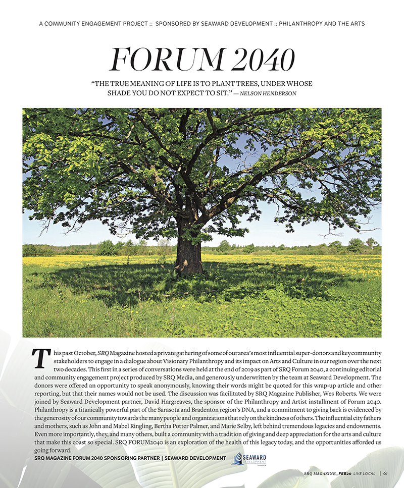 Forum 2040: Philanthropy and the Arts